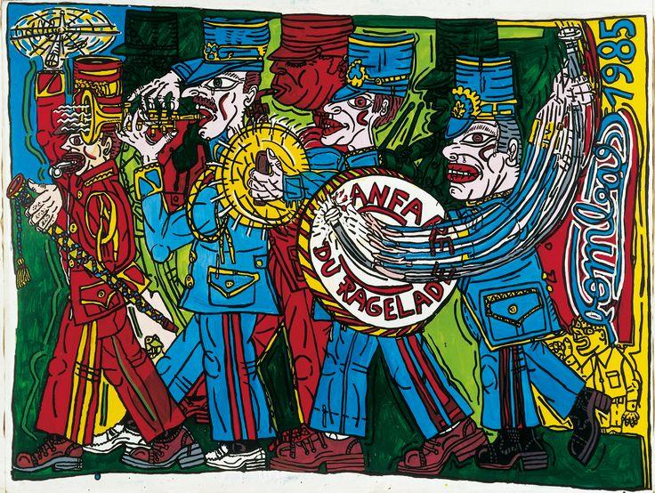 Robert Combas-La fanfare du Ragelade