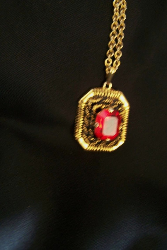 25 best my sarah coventry collection images on pinterest coventry sarah coventry red pendant with chain n3862 aloadofball Images