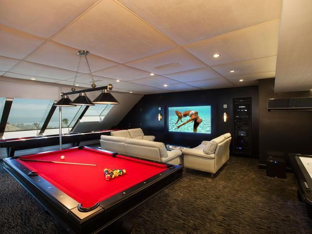 The Attic gets a new life as a game room. Man Cave Ideas - Fresh New Ideas for Man Caves : Rooms : Home & Garden Television #mancave