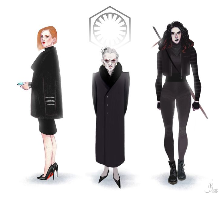 Star Wars || Genderbent First Order (well, most of them): Hux, Snoke, Kylo Ren. Ren looks a lot like an evil Asami from The Legend of Korra.