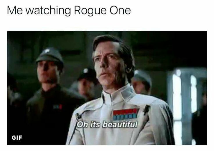 Me watching Rogue One: Oh it's beautiful.