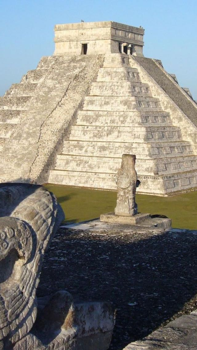 Chichen Itza, Yucatan, Mexico . . . We walked to the top of this pyramid! Have a family pic at the top.