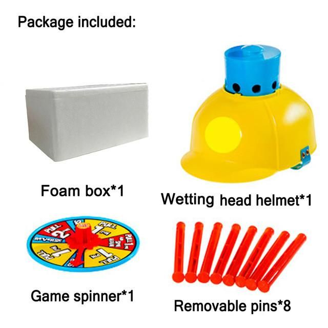 Funny Wet Head Game Hat Water Soaked Challenge April Fools Day Pranks Family Practical Jokes Interesting Toys for Kids and Adult