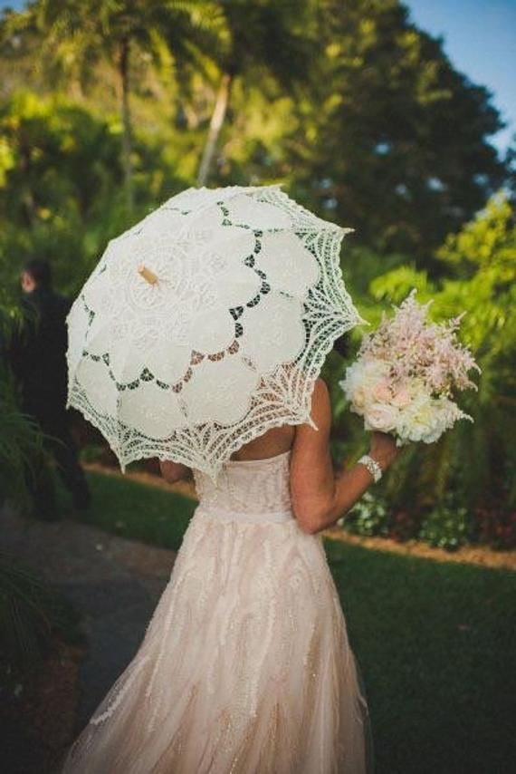7c72e4a0ee35 Diameter 77cm cotton lace Wedding umbrella.wedding decorations | Etsy