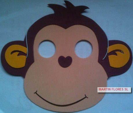 Caretas de mono infantil. Más en www.martinfloressl.es Complementos para fiesta y carnaval en #sevilla