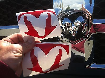 Dodge RAM 1500 Grill and Tailgate Emblem Decal 2013 2014 2015 2016 2017 ONLY