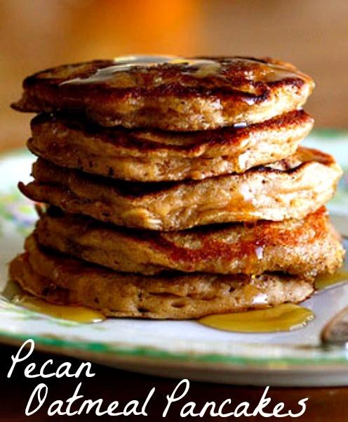 Pecan Oatmeal Pancakes by Kim, the Foodie Tourist