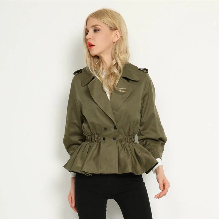 Cheap windbreakers for women, Buy Quality trench coat directly from China double trench coat Suppliers: 2017 Spring Short Cadigan Trench Coat Double Breasted Lacing Autumn Outwear Good Quality Short Windbreaker For Women Coat Female