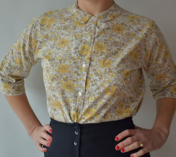 The Country Shirt 60s floral shirt in by fridalarsensvintage