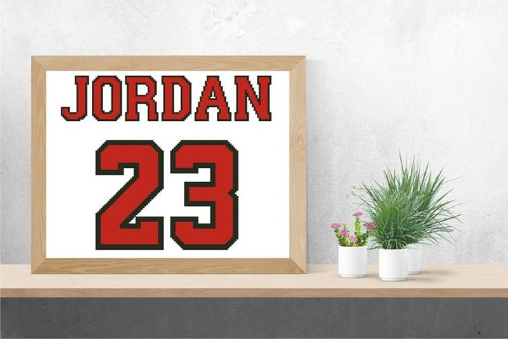 number 23 cross stitch pattern | Craftsy | free | Michael Jordan | Basketball super cup