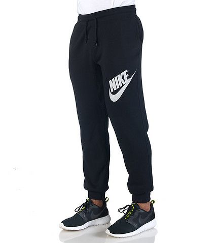 AW77 FLEECE CUFF LOGO PANT - Black - NIKE CLOTHING from jimmyjazz.com
