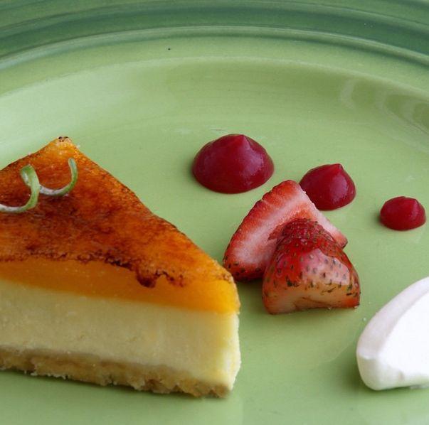 Crujiente, cremoso, ácido, dulce y afrutado... Así es nuestro Key lime cheesecake