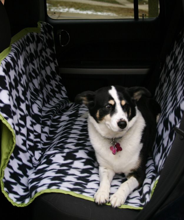 Make your own hammock-style car seat cover.
