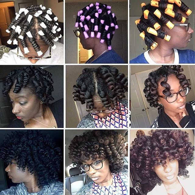 Excellent 1000 Images About Natural Hair Roller Set On Pinterest Wand Short Hairstyles Gunalazisus
