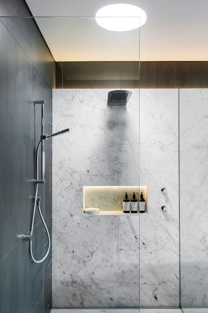Beautiful marble shower | large marble slabs can be sourced from us | Mandarin…