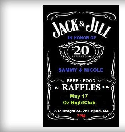 14 best nicky jack n jill images on pinterest bridal for Jack and jill ticket templates