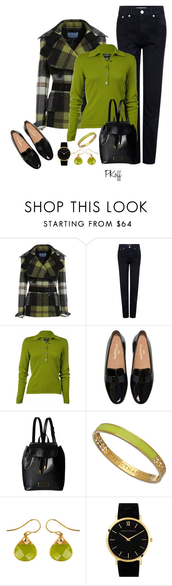"""""""Happy Friday!"""" by pkoff ❤ liked on Polyvore featuring Être Cécile, Sutton Studio, Marc by Marc Jacobs, Matterial Fix, Janna Conner and Larsson & Jennings"""