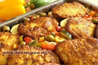 Recept na zapekané rezne so zeleninou | MaxiRecepty.sk