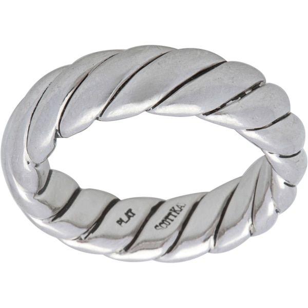 Pre-owned Scott Kay Platinum Men's Rope Estate Ring (Size 9)