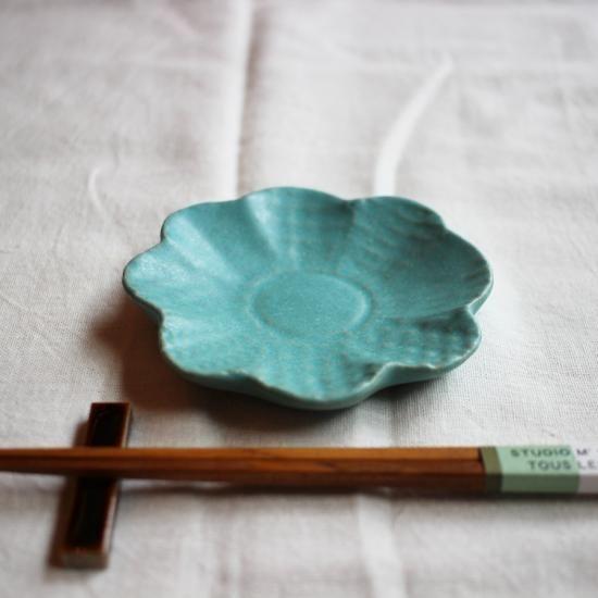 【よしざわ窯】ソーダブルー パッチワーク花皿 - 手作り作家の食器 生活雑貨 通販 cosoadowebshop
