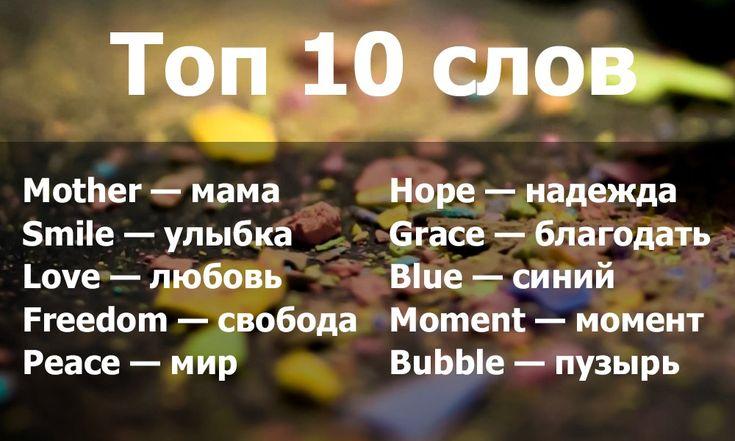Топ 10 словосочетаний