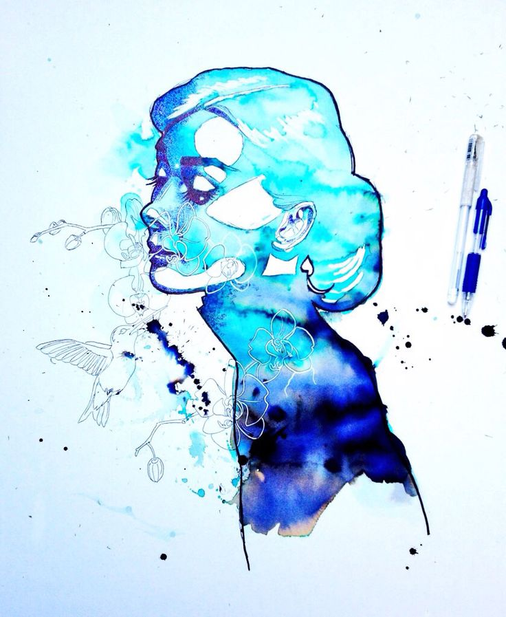 My interpretation of the beautiful Audrey Hepburn, drawn in pen, inks and biro