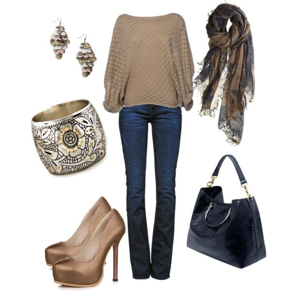 """When it's Chilly"" by deborah-simmons on Polyvore: Cute Fall Outfits, It S Chilly, Casual Date Outfits, Clothing Ensembles, Clothing Shoes Hair Make Up, Awesome Pin, Polyvore"