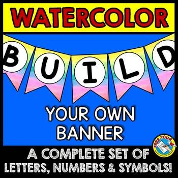 WATERCOLOR BULLETIN BOARD BANNERS (WATERCOLOR CLASSROOM DE