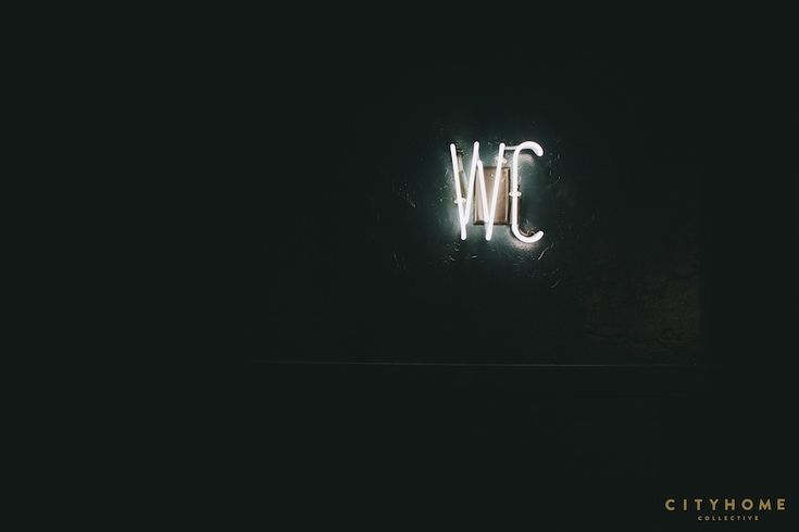 WC neon in Finca SLC. Design by cityhomeCOLLECTIVE
