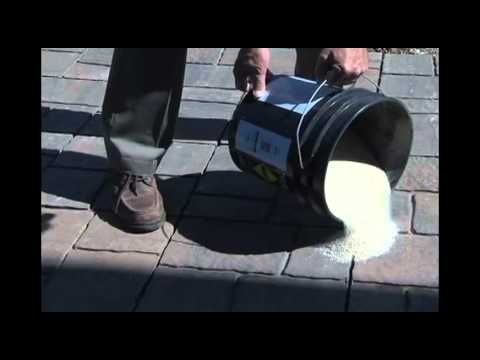 Learn how to fill joints between pavers in your paver patio or walkway using Sakrete Paver Set Sand or Sakrete PermaSand. They are mixtures of sand and special additives for keeping pavers in place while blocking weed growth in joints.