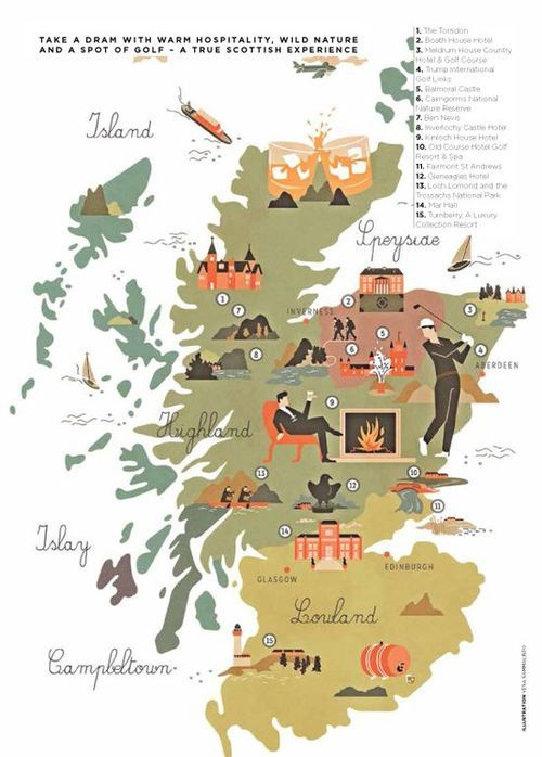 Illustrated Map of Scotland