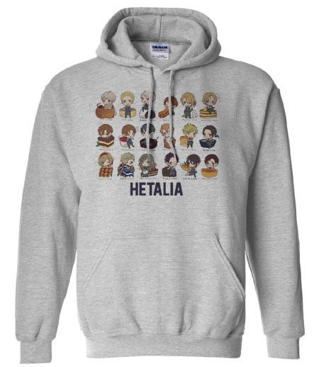 Axis powers Hetalia Chibi countries and food Hoodie Hooded Sweatshirt if I can have this I'd love it