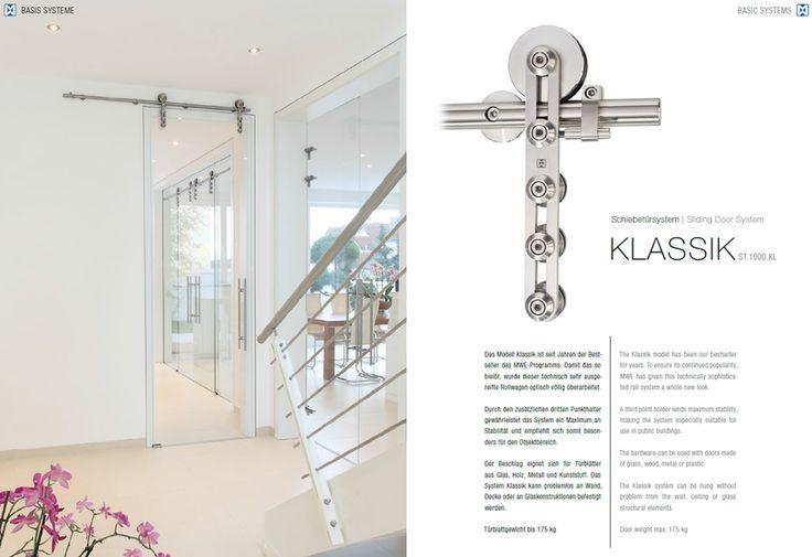 BASIS MWE - Фурнитура из нержавеющей стали для дверей раздвижных и распашных, душевые кабины и петли, библиотечные передвижные лестницы. ALFA-Design - фурнитура MWE в Москве