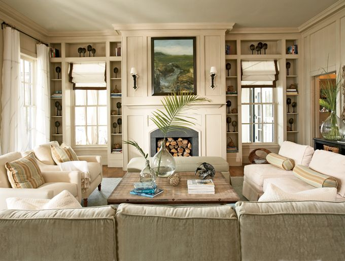 Living Room in Historical Concepts Home at River Dunes