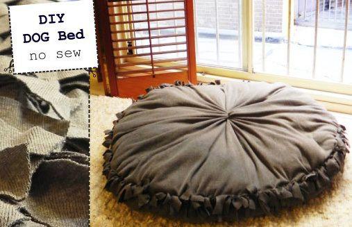 DIY Dog Bed – Super Easy NO SEW | luigi & me