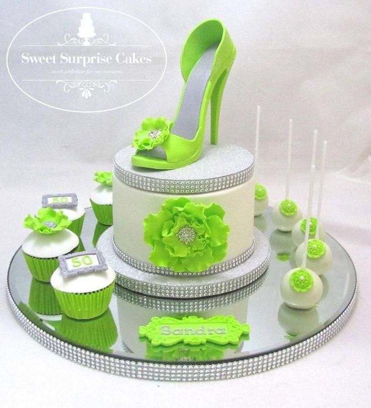 Ruffle flower stiletto cake platter