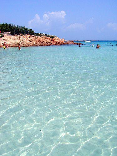 Turquoise Waters make us sooo happy ... Spiaggia del principe (prince's beach), Portu Li Coggi, Sardinia in beauitful Italy ... now sigh ... ahhhhh xx