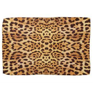 Leopard print tea towel.