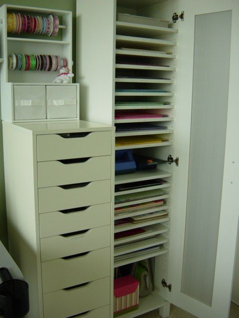 25 best ideas about ikea craft room on pinterest ikea for Craft paper storage ideas