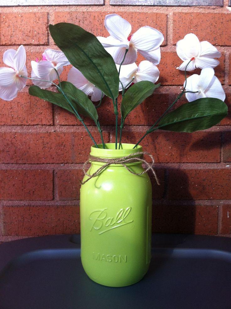 Kiwi Twine Mason Jar - pinned by pin4etsy.com