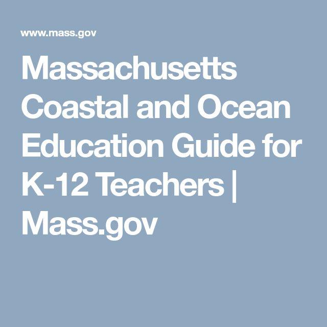 Massachusetts Coastal and Ocean Education Guide for K-12 Teachers | Mass.gov