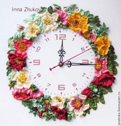Flower clock #ribbonEmbroidery