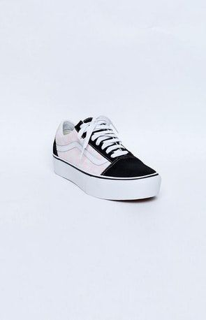 9f43eda78fd Vans Old Skool Platform Sneakers Checkerboard Black   Pink Dogwood ...