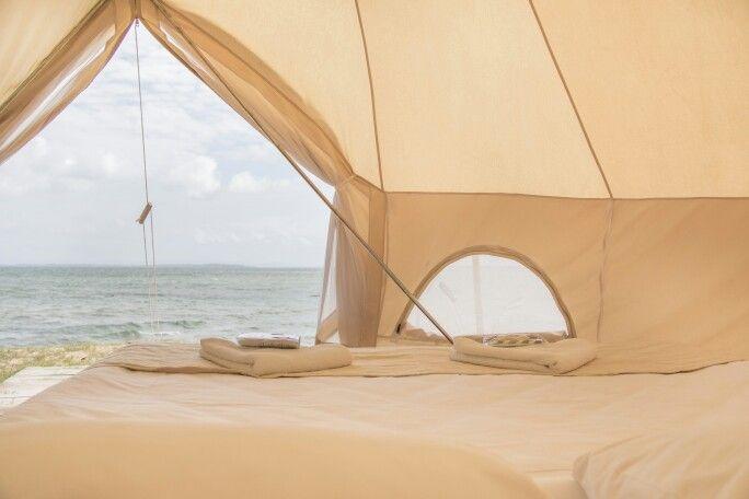 Luxe neutrals Flash Camp glamping North Stradbroke Island