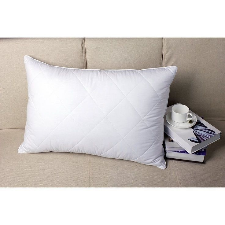 Queen Size Bed Pillow Medium Firm Goose Feather Pillow 100% Cotton Cover White #PrimeStoreDeals