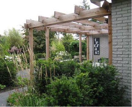 17 beste idee n over terras schaduw op pinterest buiten schaduw pergola patio en pergola schaduw - Terras met houten pergolas ...