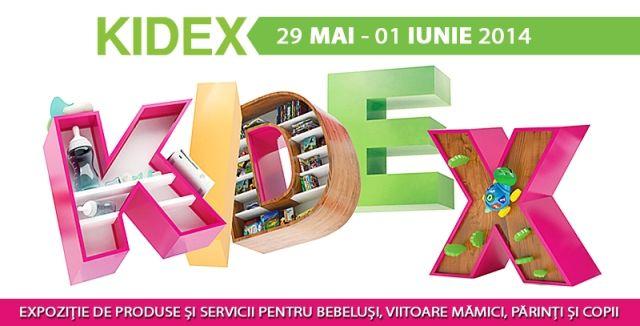 Cel mai vesel targ pentru copii - KIDEX, expozitia de produse si servicii pentru bebelusi, viitoare mamici, parinti si copii va avea loc in Pavilionul Central din cadrul Romexpo, in perioada 29 mai - 1 iunie 2014 http://www.kidex.ro/
