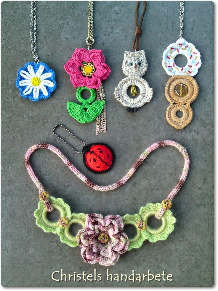 Virkade halsband, Crochet necklace