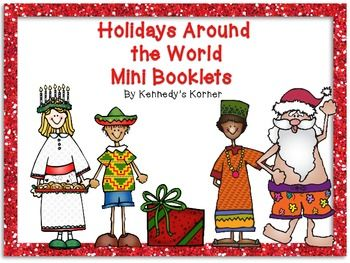 Happy Holidays Enjoy this FREE product from Kennedy's Korner! These mini booklets are a part of the Holidays Around the World Unit you can find in our store.