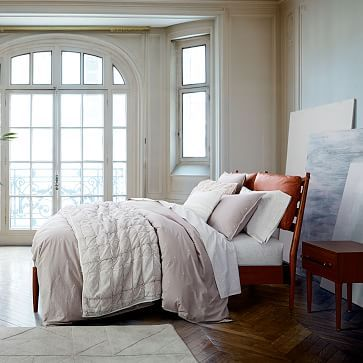 Arne Bed   Leather Cushions #westelm